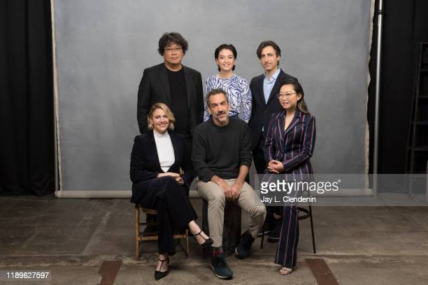 Bong Joonho Marielle Heller Noah Baumbach Lulu Wang Todd Phillips and Greta Gerwig are photographed for Los Angeles Times on October 27 2019 in...