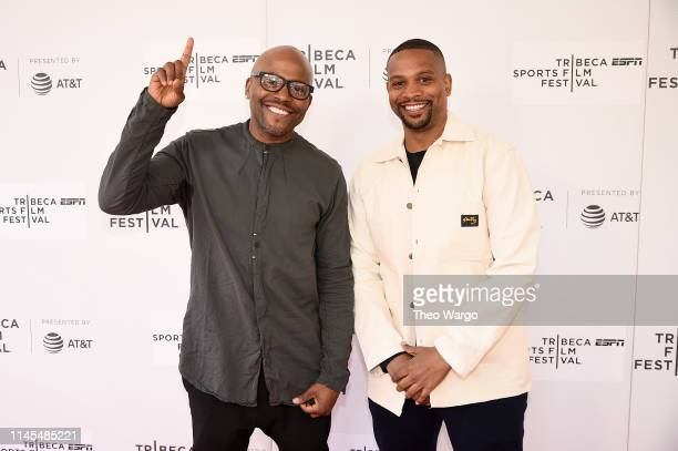 """Directors Coodie Simmons and Chike Ozah attend the """"A Kid From Coney Island"""" screening during the 2019 Tribeca Film Festival at Village East Cinema..."""