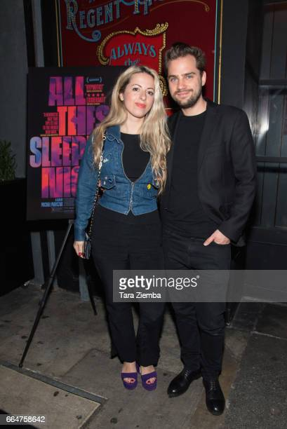 Directors Crystal Moselle and Michal Marczak attend the premiere of The Orchard's 'All These Sleepless Nights' at the Regent Theater on April 4 2017...
