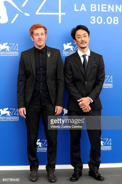 Directors Damien Manivel and Kohei Igarashi attend the 'The Night I Swam ' photocall during the 74th Venice Film Festival at Sala Casino on September...