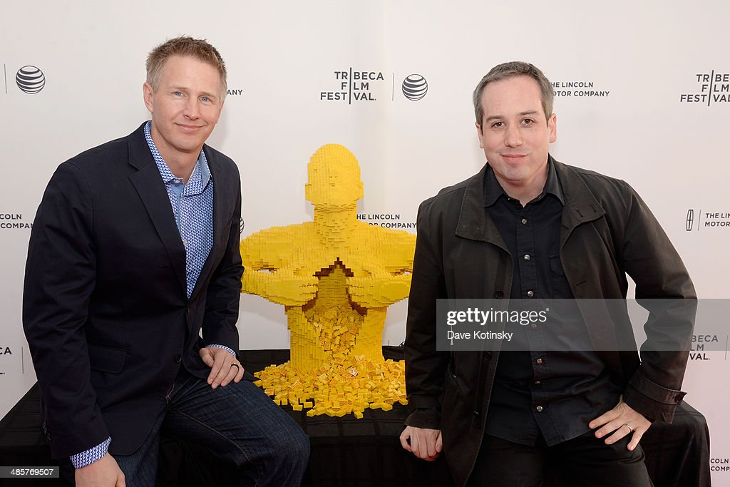 Directors Daniel Junge (L) and Kief Davidson attends the 'Beyond the Brick: A LEGO Brickumentary' Premiere during the 2014 Tribeca Film Festival at the SVA Theater on April 20, 2014 in New York City.
