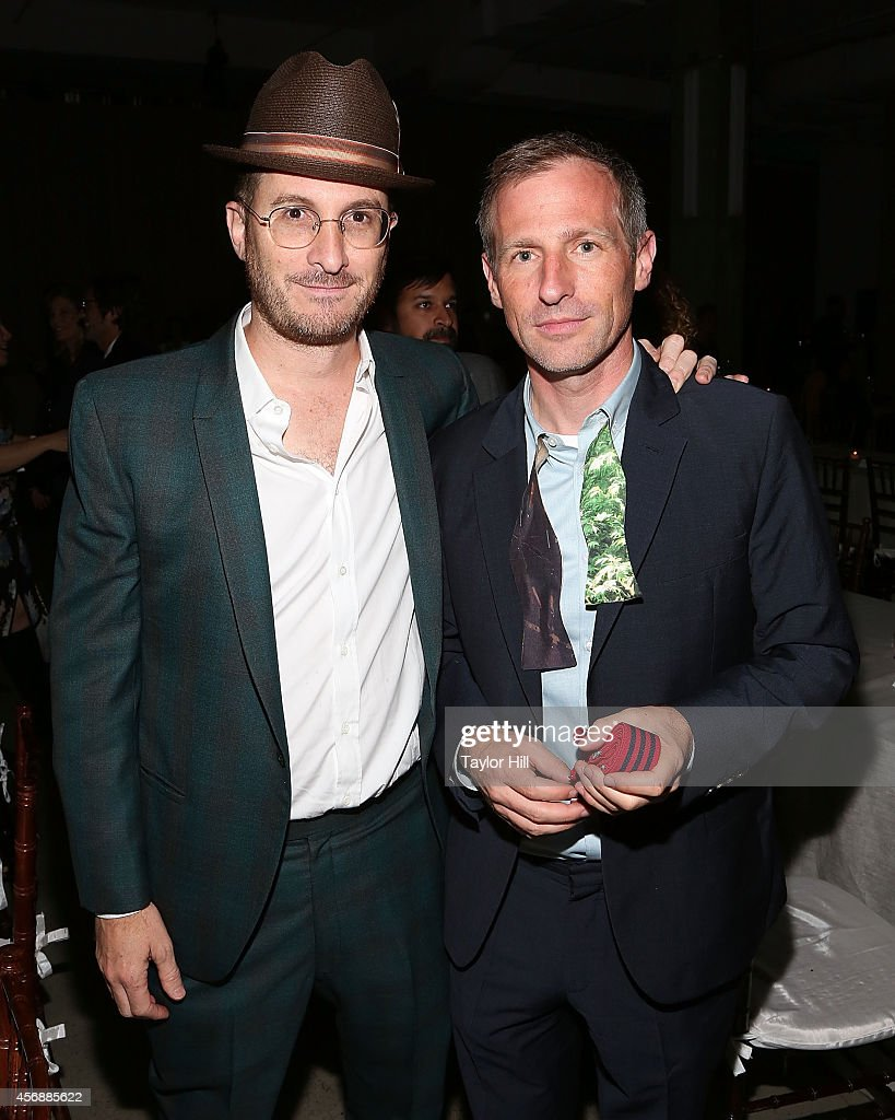 Directors Darren Aronofsky and Spike Jonze attend the 2014 The Lowline Anti-Gala Benefit Dinner at Skylight Modern on October 8, 2014 in New York City.