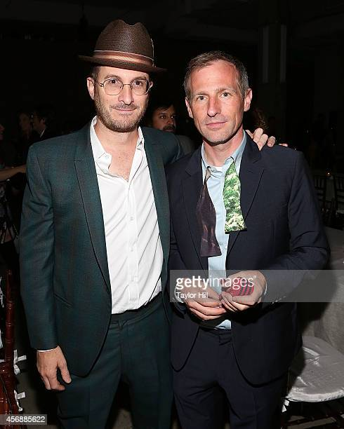 Directors Darren Aronofsky and Spike Jonze attend the 2014 The Lowline AntiGala Benefit Dinner at Skylight Modern on October 8 2014 in New York City
