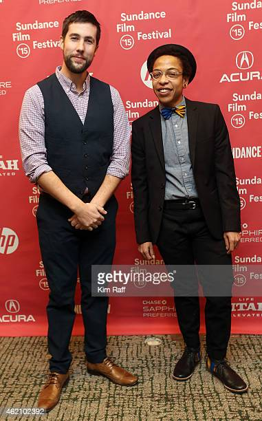 Directors David Felix Sutcliffe and Lyric R Cabral attend the 'ERROR' Premiere during the 2015 Sundance Film Festival at the Yarrow Hotel Theater on...
