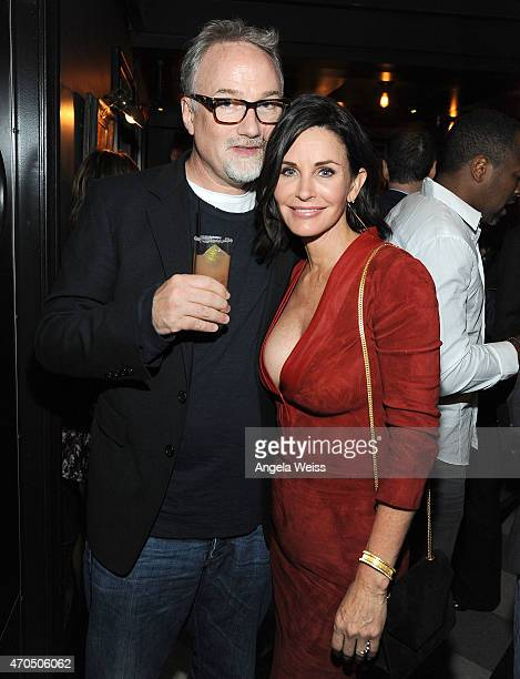 Directors David Fincher and Courteney Cox attends the Los Angeles Special Screening aftre party of 'Just Before I Go' at Wood Vine on April 20 2015...