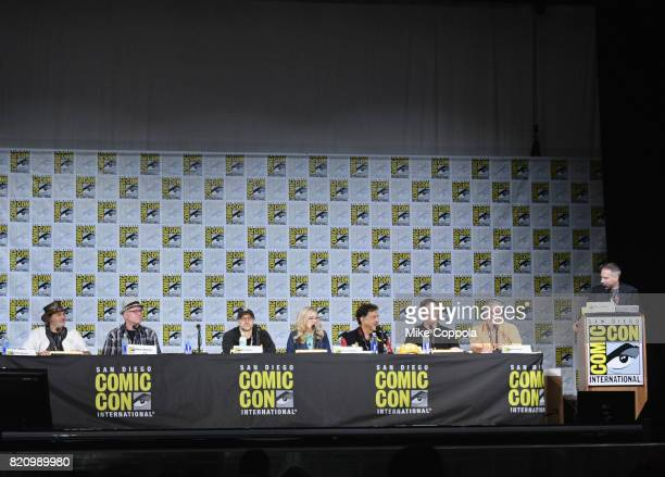 Directors David Silverman and Mike B Anderson writer Matt Selman actors Nancy Cartwright and Joe Mantegna producer Al Jean and writer/producer Matt...