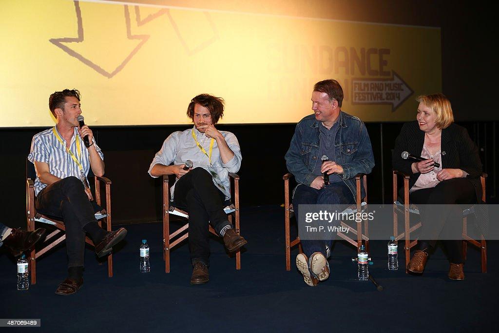 Directors Edward Lovelace, James Hall, panellists Edwyn Collins and