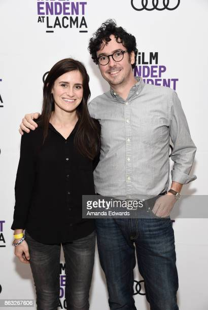 Directors Elaine McMillion Sheldon and Andrew Beck Grace attend the Film Independent at LACMA Special Screening of '11/8/16' at the Bing Theatre At...