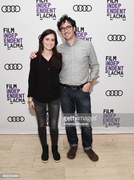 Directors Elaine McMillion Sheldon and Andrew Beck Grace attend the Film Independent at LACMA Special Screening of 11/8/16 at the Bing Theatre At...