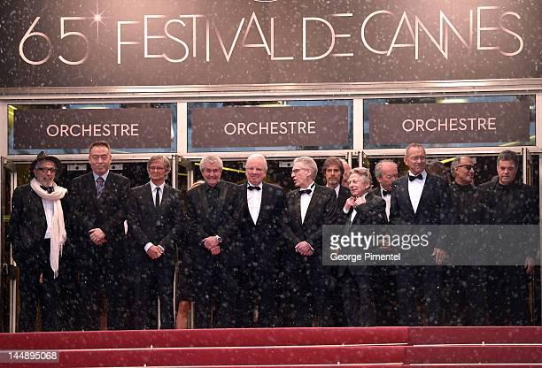 Directors Elia Suleymane, Chen Kaige, Walter Salles, Claude Lelouche, David Cronenberg, Roman Polanski and Jean-Pierre et Luc Dardennes attend the...