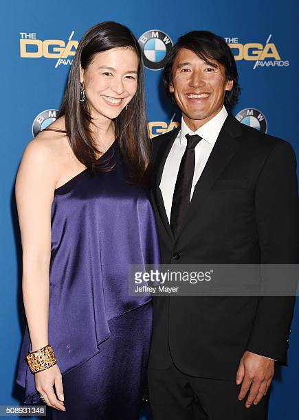 Directors Elizabeth Chai Vasarhelyi and Jimmy Chin attend the 68th Annual Directors Guild Of America Awards at the Hyatt Regency Century Plaza on...