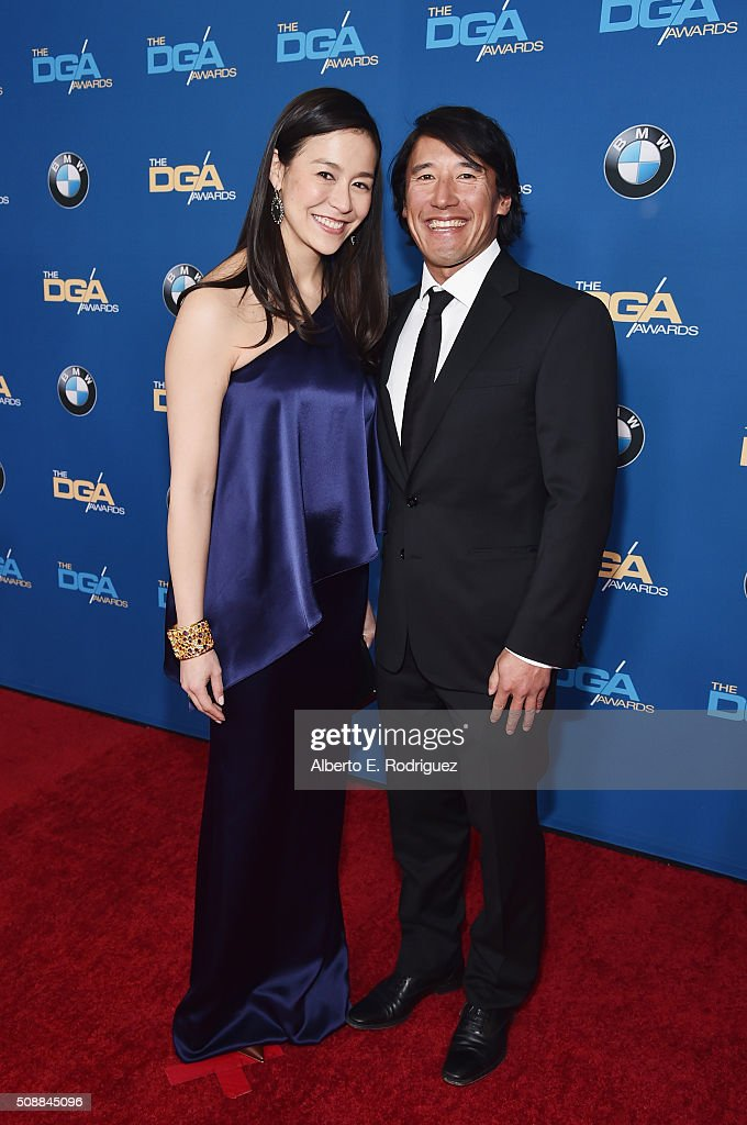 Directors Elizabeth Chai Vasarhelyi (L) and Jimmy Chin attends the 68th Annual Directors Guild Of America Awards at the Hyatt Regency Century Plaza on February 6, 2016 in Los Angeles, California.