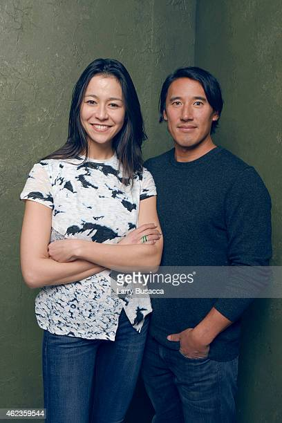 Directors Elizabeth Chai Vasarhelyi and Jimmy Chin of Meru pose for a portrait at the Village at the Lift Presented by McDonald's McCafe during the...