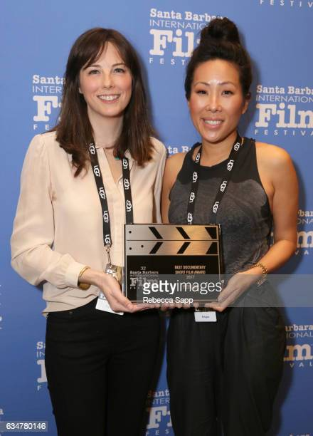 Directors Emily Moore and Joyce Chen of 'Refugee' attend the Awards Breakfast during the 32nd Santa Barbara International Film Festival at Fess...