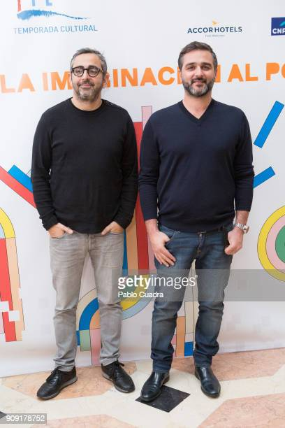 Directors Eric Toledano and Olivier Nakache present TIFE 2018 at the French embassy on January 23 2018 in Madrid Spain