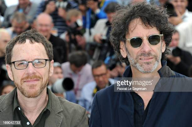 Directors Ethan Coen and director Joel Coen attend the 'Inside Llewyn Davis' photocall during the 66th Annual Cannes Film Festival at the Palais des...