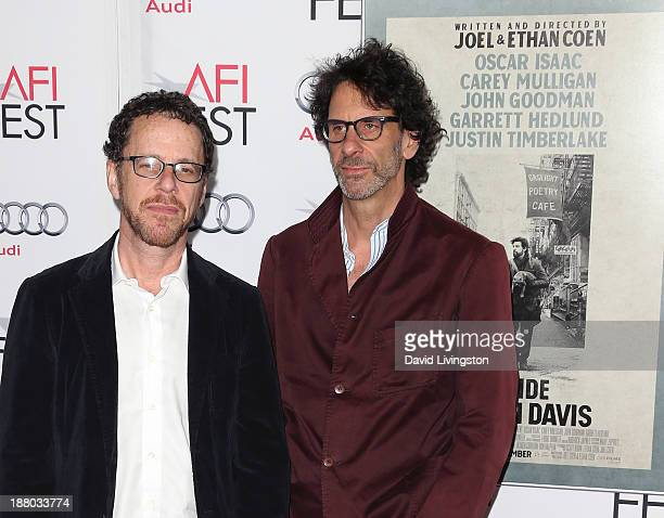 Directors Ethan Coen and Joel Coen attend the AFI FEST 2013 presented by Audi Closing Night Gala Screening of Inside Llewyn Davis at the TCL Chinese...