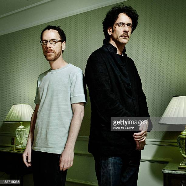 Directors Ethan Coen Joel Coen are photographed for Self Assignment on May 22 2007 in Cannes France