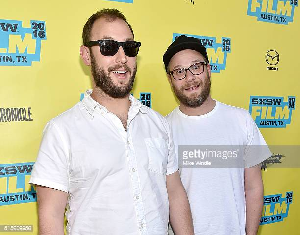 Directors Evan Goldberg and Seth Rogen attend the screening of 'Preacher' during the 2016 SXSW Music Film Interactive Festival at Paramount Theatre...