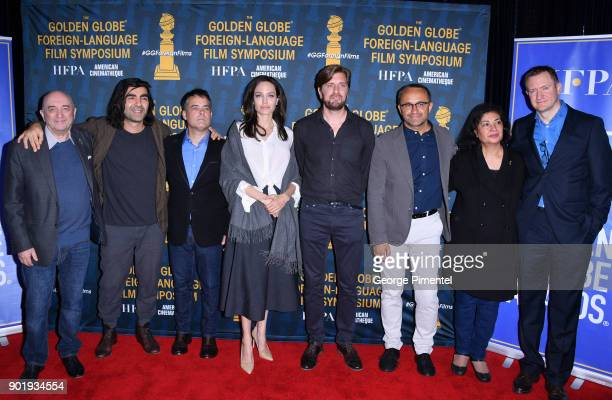 Directors Fatih Akin Sebastian Lelio Angelina Jolie Ruben Ostlund and Andrey Zvyagintsev attend the HFPA and American Cinematheque Present The Golden...