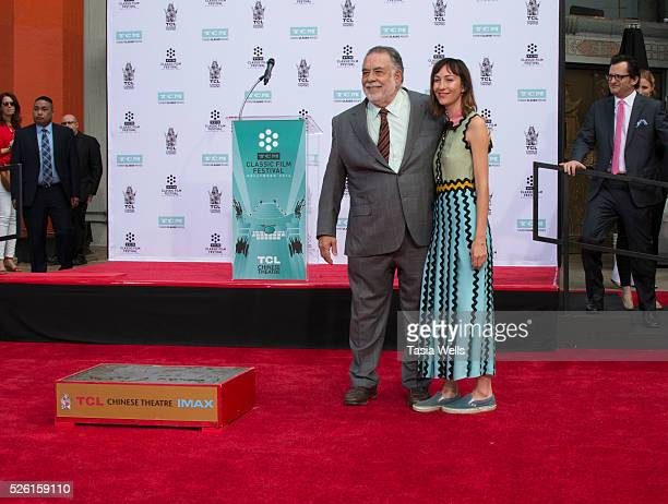 Directors Francis Ford Coppola and daughter Gia Coppola attend his Hand and Footprint Ceremony at TCL Chinese Theatre IMAX on April 29 2016 in...
