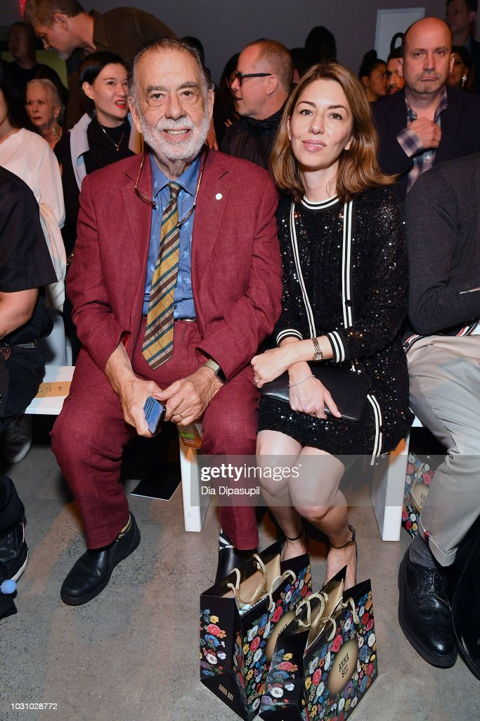 Directors Francis Ford Coppola (L) and Sofia Coppola attend the Anna Sui front row during New York Fashion Week: The Shows at Gallery I at Spring Studios on September 10, 2018 in New York City.