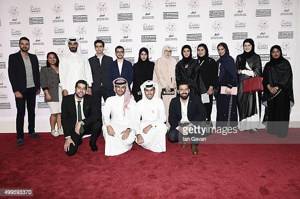 Directors from the ÔMade In Qatar' showcase join Doha Film Institute CEO Fatma Al Remaihi and Chief Administration Officer Abdulla Al Mosallam on the...