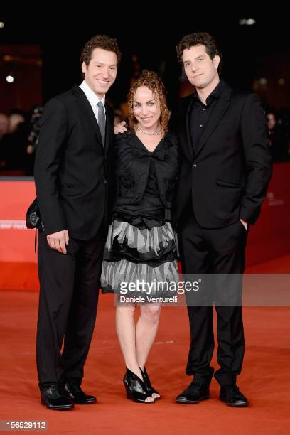 Directors Gabe Polsky and Alan Polsky with their mother attends 'The Motel Life' Premiere during the 7th Rome Film Festival at the Auditorium Parco...
