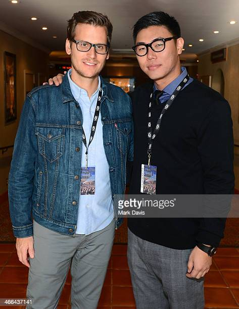 Directors Gavin Kelly and Charles Chu attend a screening of the film Chu and Blossom the 29th Santa Barbara International Film Festival on January 31...