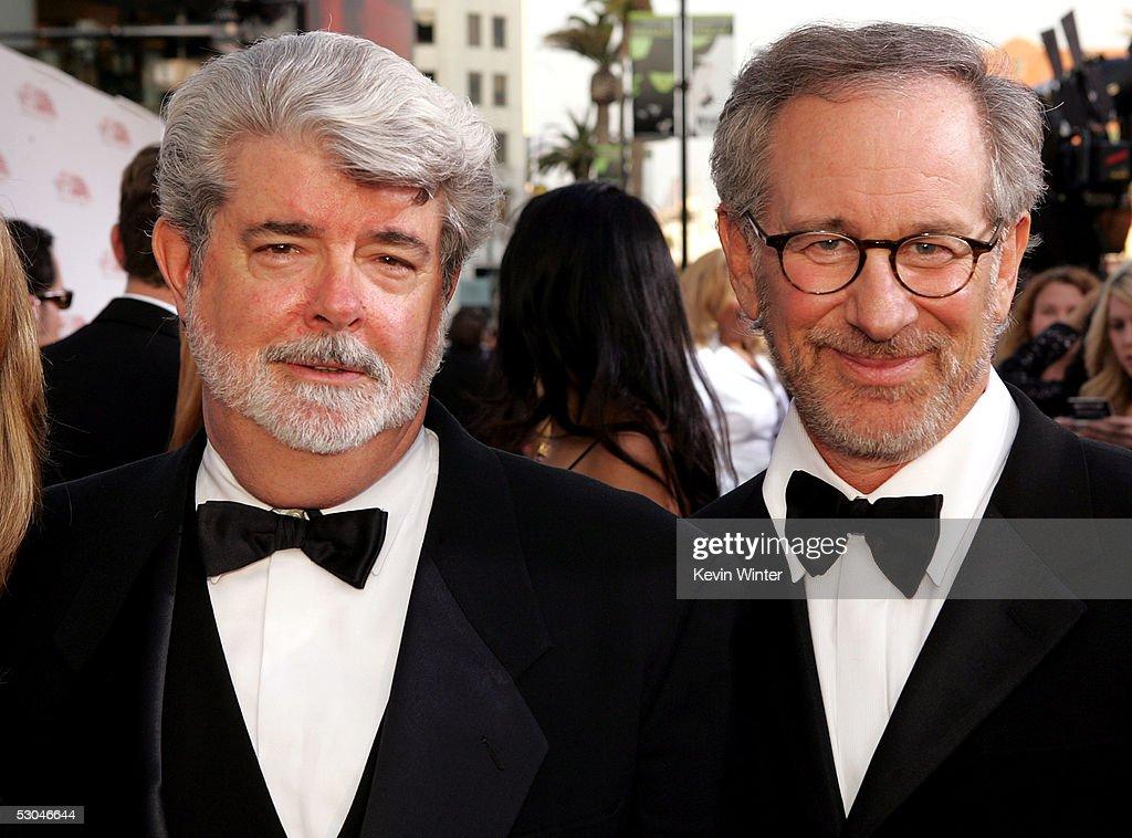 Steven Spielberg, George Lucas and J.J. Abrams arrive at