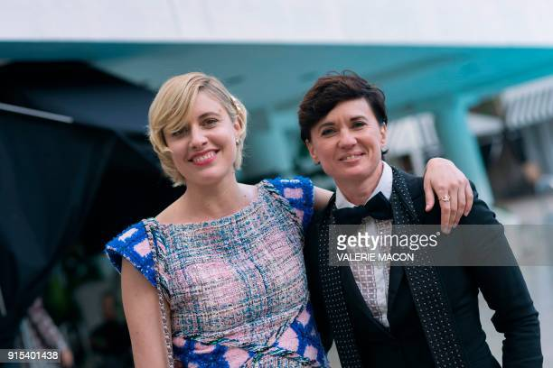 Directors Greta Gerwig and Kimberly Peirce for a portrait during the Academy Awards annual nominees luncheon for the 90th Oscars at the Beverly...