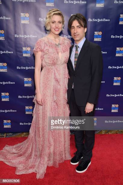 Directors Greta Gerwig and Noah Baumbach attend IFP's 27th Annual Gotham Independent Film Awards on November 27 2017 in New York City