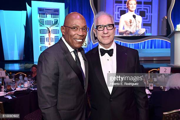 Directors Guild of America President Paris Barclay and Writers Guild of America West President Howard A Rodman attend the 2016 Writers Guild Awards...