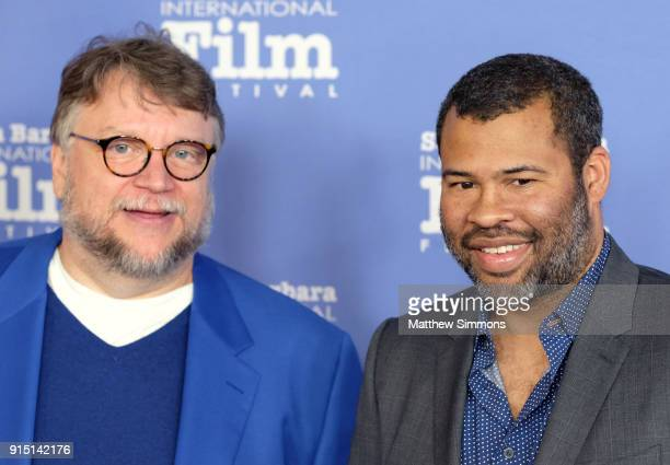 Directors Guillermo del Toro and Jordan Peele at the Outstanding Directors Award Sponsored by The Hollywood Reporter during The 33rd Santa Barbara...