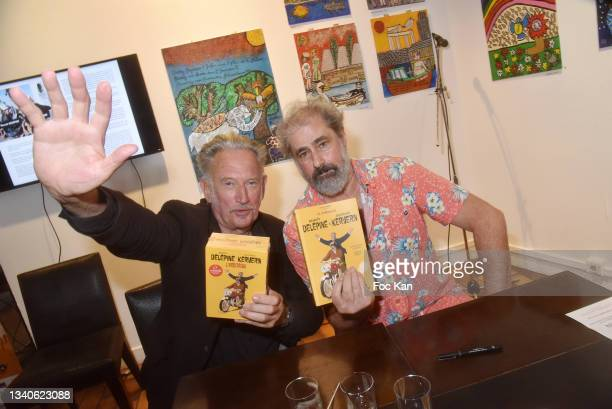 "Directors Gustave Kervern and Benoit Delepine attend ""Le Cinema De Benoit Delepine Et Gustave Kervern"" Book Signing Party At Halle Saint Pierre on..."