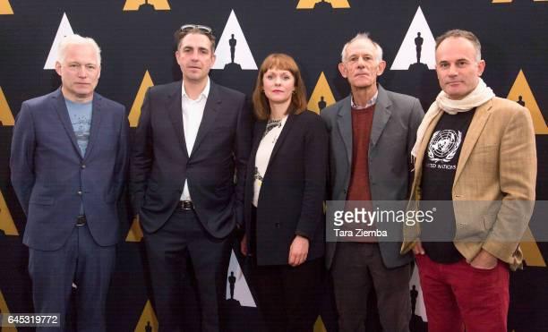 Directors Hannes Holm, Martin Zandvliet, Maren Ade, Martin Butler and Bentley Dean arrive to the 89th Annual Academy Awards Oscar Week reception for...