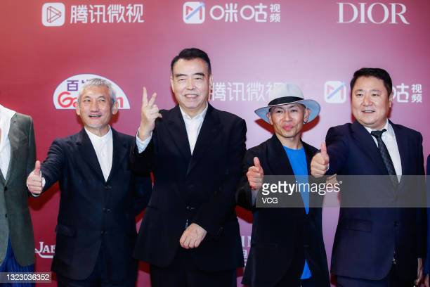 Directors Hark Tsui, Chen Kaige, Dante Lam Chiu-Yin and producer Yu Dong attend opening ceremony of the 24th Shanghai International Film Festival at...
