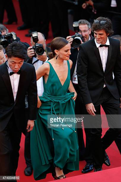 Directors Hong WonChan Natalie Portman and Elad Keidan attend the Sicario Premiere during the 68th annual Cannes Film Festival on May 19 2015 in...