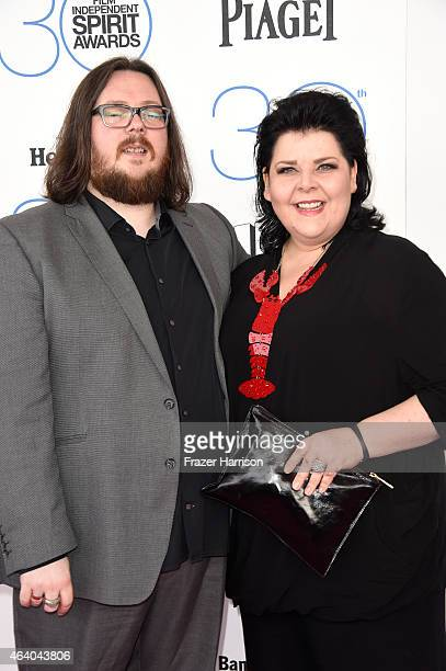 Directors Iain Forsyth and Jane Pollard attend the 2015 Film Independent Spirit Awards at Santa Monica Beach on February 21, 2015 in Santa Monica,...