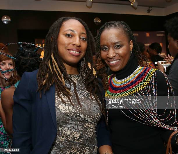 Directors Iquo B Essien and Ekwa Msangi attend the opening night of the 25th African Film Festival at Walter Reade Theater on May 16 2018 in New York...