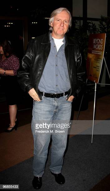 Directors James Cameron attends the ''Beyond Words 2010'' panel reception at the Writers Guild Theater on February 18 2010 in Beverly Hills California