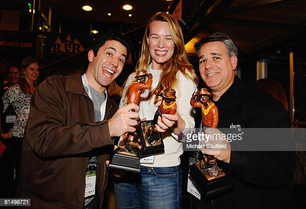 Directors James Lester Courtney Balaker and Craig Saavedra pose with their awards at the Awards Ceremony during the 5th annual Jackson Hole Film...