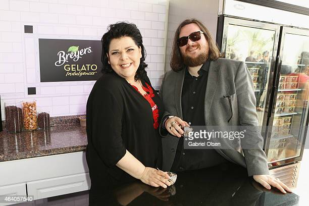 Directors Jane Pollard and Iain Forsyth stopped by the Breyers Gelato Indulgences Lounge backstage at the 30th Annual Film Independent Spirit Awards...
