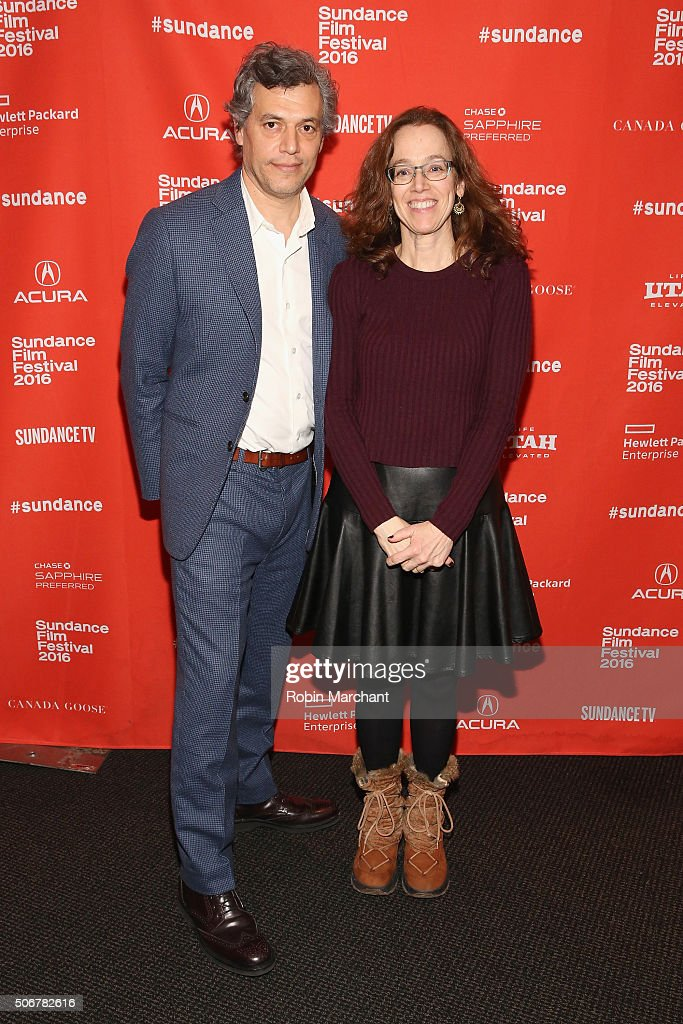 Directors Jason Benjamin (L) and Julie Zammarchi attend the 'Suited' Premiere during the 2016 Sundance Film Festival at Temple Theater on January 25, 2016 in Park City, Utah.