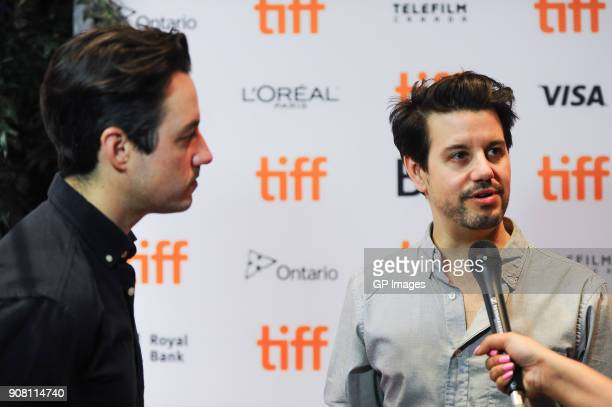 Directors Jason Sanchez and Carlos Sanchez attend the TIFF presents 'In Conversation With Evan Rachel Wood' at TIFF Bell Lightbox on January 20 2018...