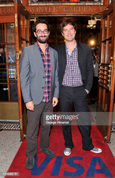 Directors Jay Duplass and Mark Duplass arrive at Jeff Who Lives At Home Premiere at The Elgin during the2011 Toronto International Film Festival on...