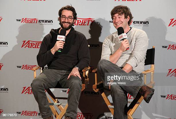 Directors Jay Duplass and Mark Duplass attends the Variety Studio at Sundance Day 3 on January 24 2010 in Park City Utah