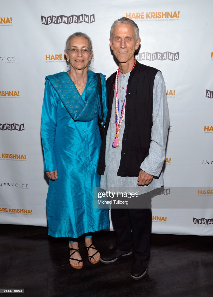 Directors Jean Griesser and John Griesser attend a screening of Abramorama's 'Hare Krishna! The Mantra, the Movement and the Swami Who Started It All' at Laemmle Monica Film Center on June 22, 2017 in Santa Monica, California.