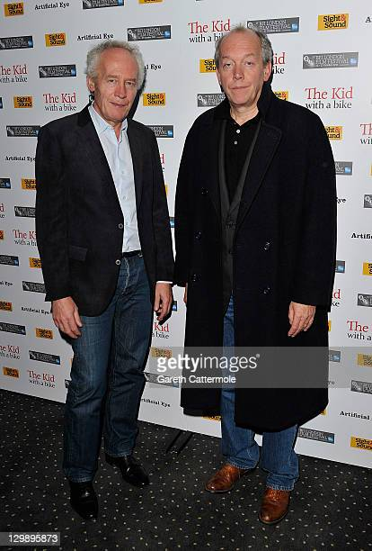 Directors Jean Pierre Dardenne and Luc Dardenne attend The Kid With A Bike premiere during the 55th BFI London Film Festival at the Vue West End on...
