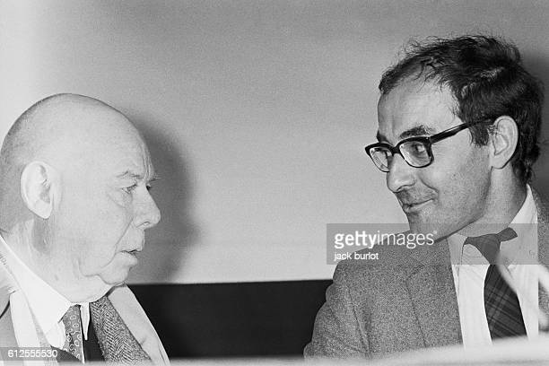 Directors Jean Renoir and JeanLuc Godard